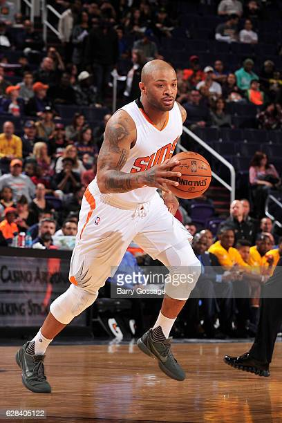 J Tucker of the Phoenix Suns handles the ball against the Indiana Pacers on December 7 2016 at Talking Stick Resort Arena in Phoenix Arizona NOTE TO...