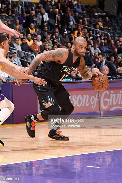 J Tucker of the Phoenix Suns handles the ball against the Los Angeles Lakers on December 9 2016 at STAPLES Center in Los Angeles California NOTE TO...