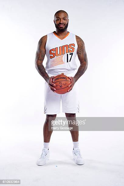 J Tucker of the Phoenix Suns poses for a portrait at the 20162017 team media day on September 26 at Talking Stick Resort Arena in Phoenix Arizona...