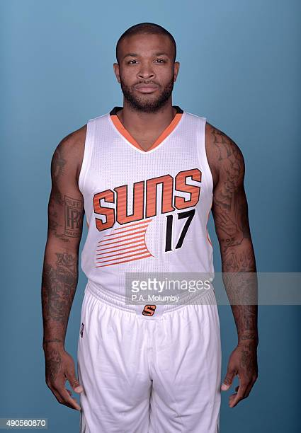 J Tucker of the Phoenix Suns poses for a portrait on Media Day on September 28 2015 at the Talking Stick Resort Arena in Phoenix Arizona NOTE TO USER...