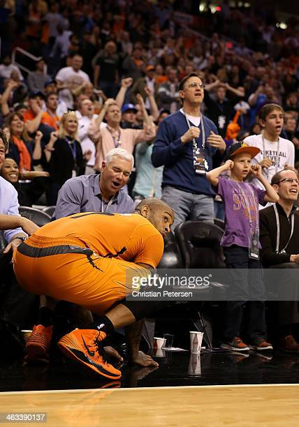 J Tucker of the Phoenix Suns reacts after missing a last second three point shot following the NBA game against the Dallas Mavericks at US Airways...