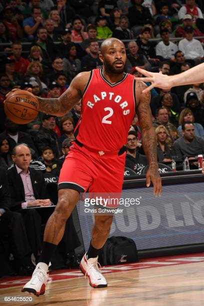 Tucker of the Toronto Raptors handles the ball against the Detroit Pistons on March 17 2017 at The Palace of Auburn Hills in Auburn Hills Michigan...