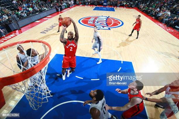 Tucker of the Toronto Raptors shoots the ball against the Detroit Pistons on March 17 2017 at The Palace of Auburn Hills in Auburn Hills Michigan...