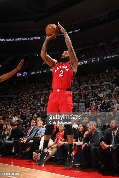 Tucker of the Toronto Raptors shoots the ball against the Detroit Pistons on April 5 2017 at The Palace of Auburn Hills in Auburn Hills Michigan NOTE...