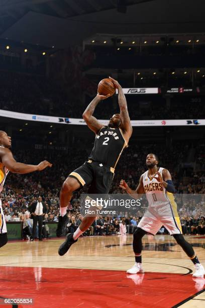 Tucker of the Toronto Raptors shoots the ball against the Indiana Pacers on March 31 2017 at the Air Canada Centre in Toronto Ontario Canada NOTE TO...