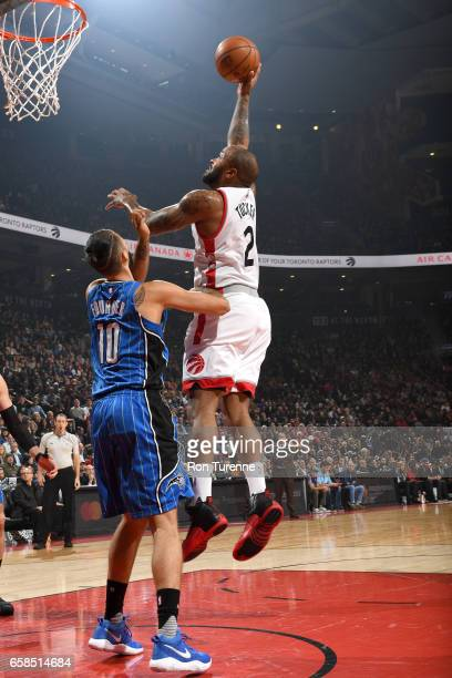 Tucker of the Toronto Raptors shoots the ball against the Orlando Magic on March 27 2017 at the Air Canada Centre in Toronto Ontario Canada NOTE TO...