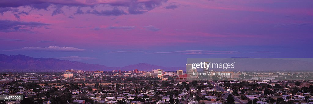 Tucson in early evening : Stock Photo