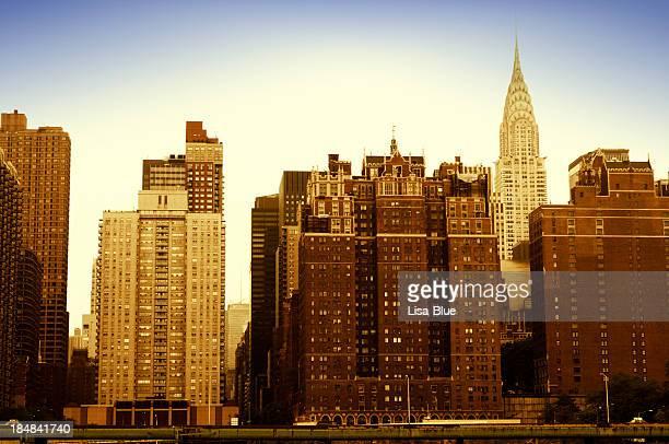Tudor City Skyline and Chrysler Building,NYC