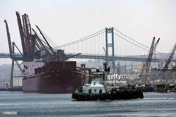Tug boats work the waters in the Port of Los Angeles June 13 2007 in San Pedro California The US Environmental Protection Agency recently began...