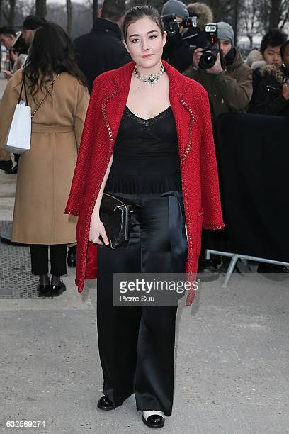 Tugba Sunguroglu arrives at the Chanel Haute Couture Spring Summer 2017 show as part of Paris Fashion Week on January 24 2017 in Paris France
