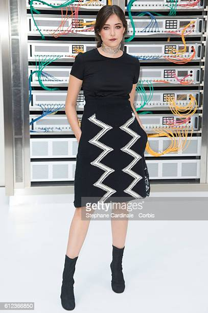 Tugba Sunguroglu attends the Chanel show as part of the Paris Fashion Week Womenswear Spring/Summer 2017 on October 4 2016 in Paris France