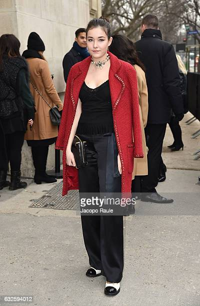 Tugba Sunguroglu is seen arriving at the Chanel Fashion Show during Paris Fashion Week Haute Couture F/W 20172018 on January 24 2017 in Paris France