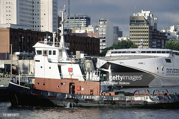 Tugboat in Port of Buenos Aires, Argentina