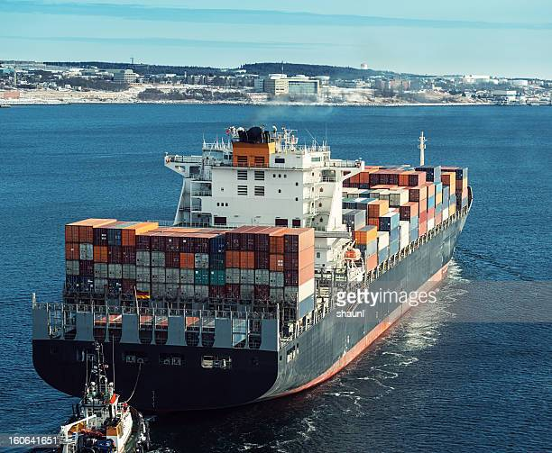 Tugboat with Container Ship
