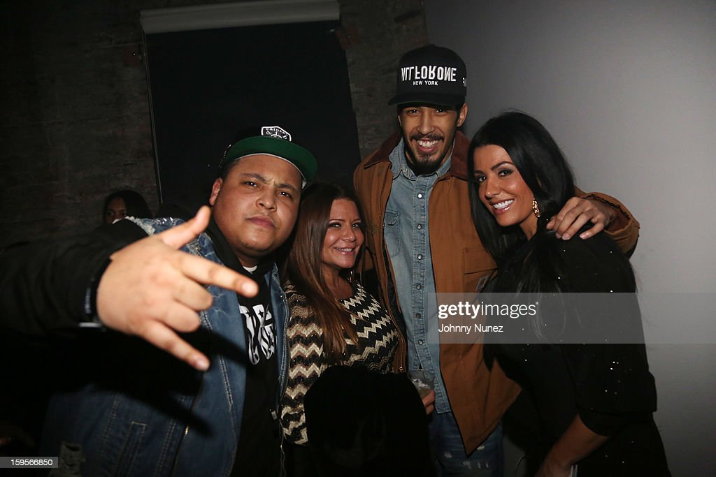 Tuge, Karen Gravano, Dub, and Ramona Rizzo attend A$AP Rocky's 'LOVE.LIVE.A$AP' Album Release Party at The Hole on January 15, 2013 in New York City.