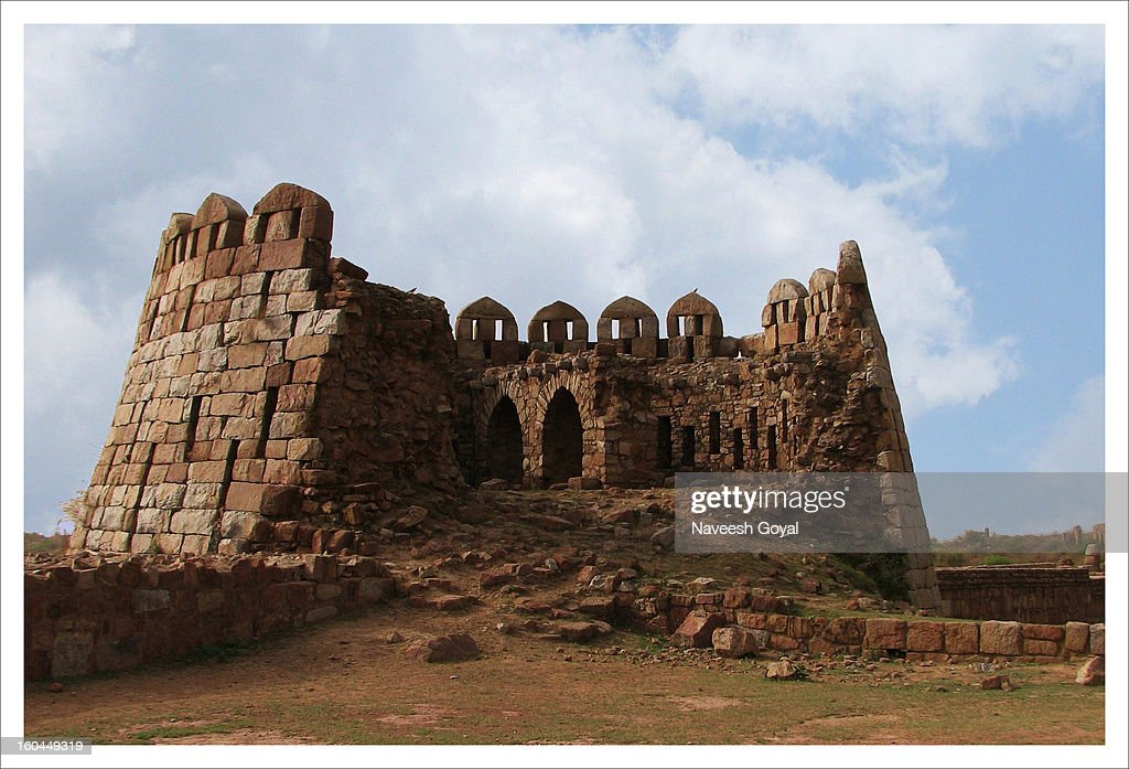 Tughlaqabad Fort, New Delhi, IN : Stock Photo