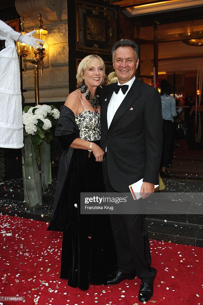 Tui Ag CEO <a gi-track='captionPersonalityLinkClicked' href=/galleries/search?phrase=Michael+Frenzel&family=editorial&specificpeople=722251 ng-click='$event.stopPropagation()'>Michael Frenzel</a> and wife Gabriela at the 7th Russian German economy, politics and culture ball at The Russian Embassy at Russian Palais Unter Den Linden in Berlin on 120908