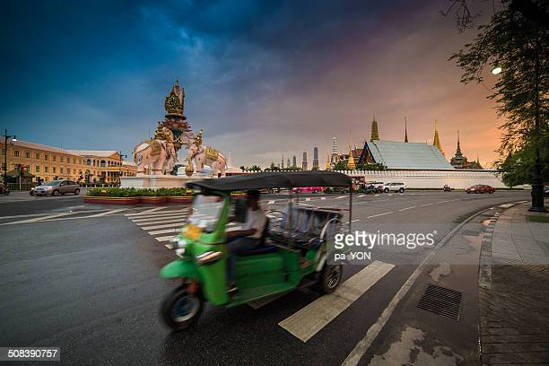 Tuk tuk and Wat Phra Kaeo
