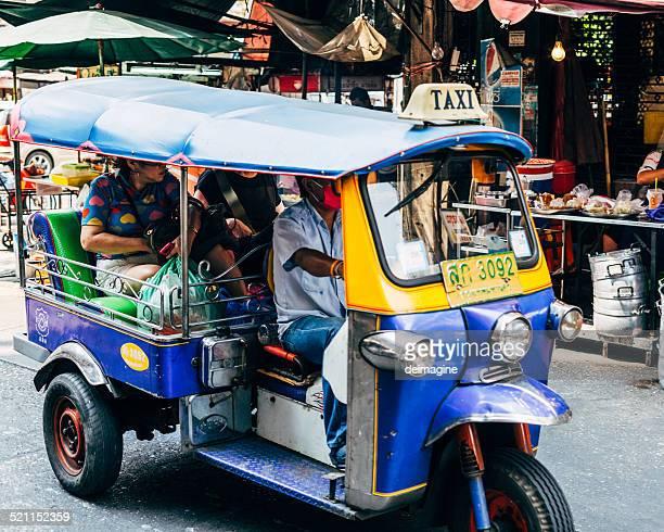 Tuktuk in Bangkoks Chinatown.