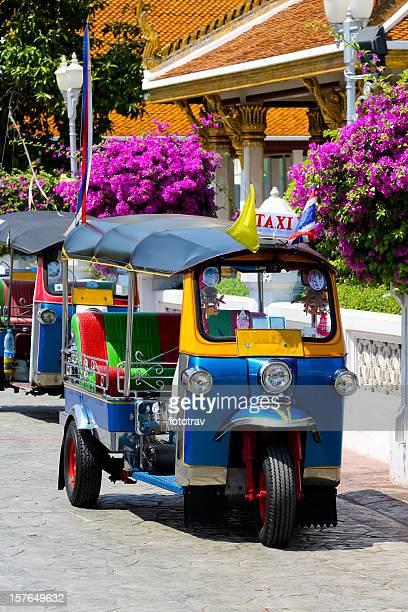 Tuktuk, traditional taxi in Bangkok, Thailand