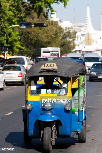 Tuktuk, traditionnel taxi à Bangkok, Thaïlande