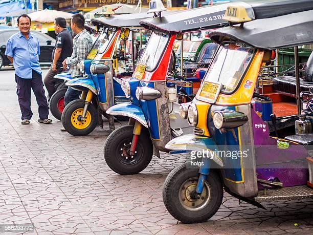 Tuk-tuks in Bangkok, Thailand