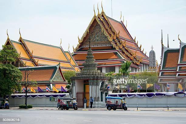 Tuk-Tuks waiting for tourists near Grand Palace, Bangkok