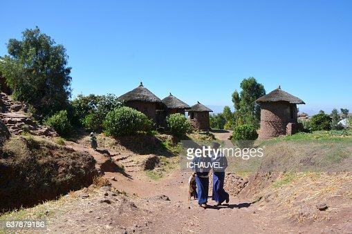 Tukul houses Lalibela Ethiopia