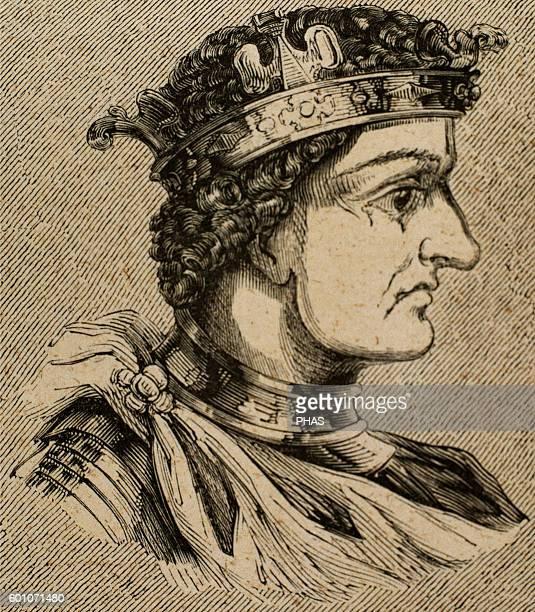 Tulga Visigothic King of Hispania Septimania and Galicia from 640 to 642 Portrait Engraving