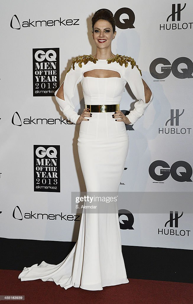 Tulin Sahin attends the GQ Turkey Men of the Year awards at Four Seasons Bosphorus Hotel on December 11, 2013 in Istanbul, Turkey.