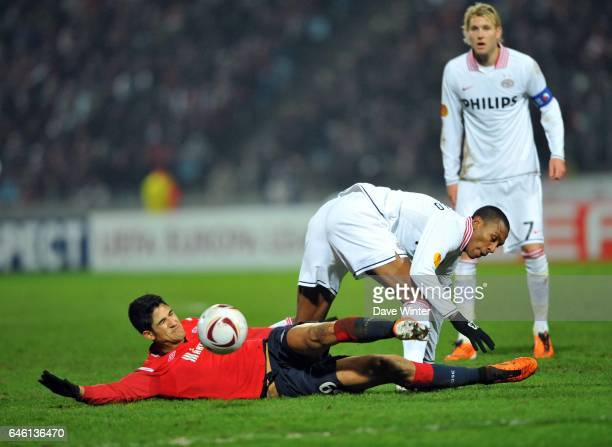 Tulio DE MELO / Atiba HUTCHINSON Lille / PSV Eindhoven 1/16 de finale aller de Ligue Europa Photo Dave Winter / Icon Sport