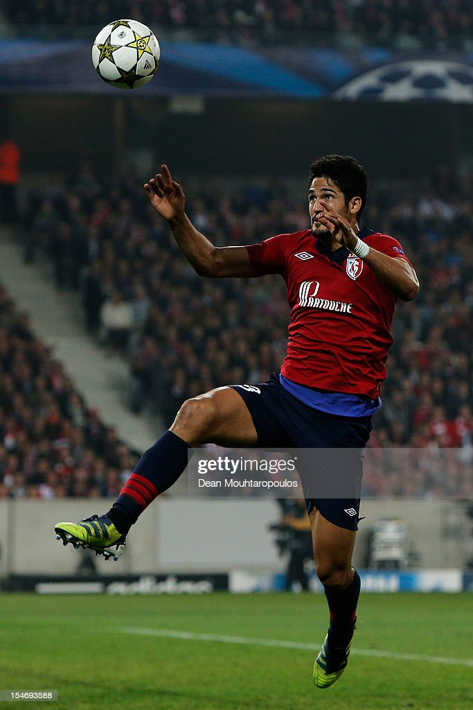 Tulio De Melo of Lille in action during the Group F UEFA Champions League match between OSC Lille and FC Bayern Muenchen at Grand Stade Lille Metropole on October 23, 2012 in Lille, France.