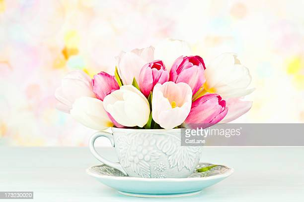 Tulip Bouquet in Teacup