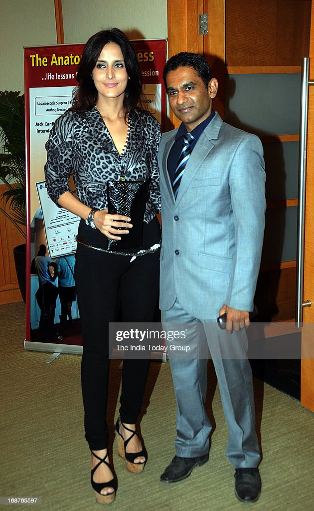 Tulip Joshi with Husband Vinod Nair at the launch of Dr. Rakesh Sinha's DVD in Mumbai on 14th May, 2013.
