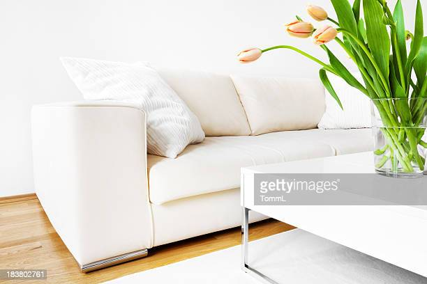 Tulips and Sofa