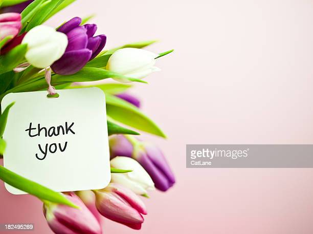Tulips with Thank You Card
