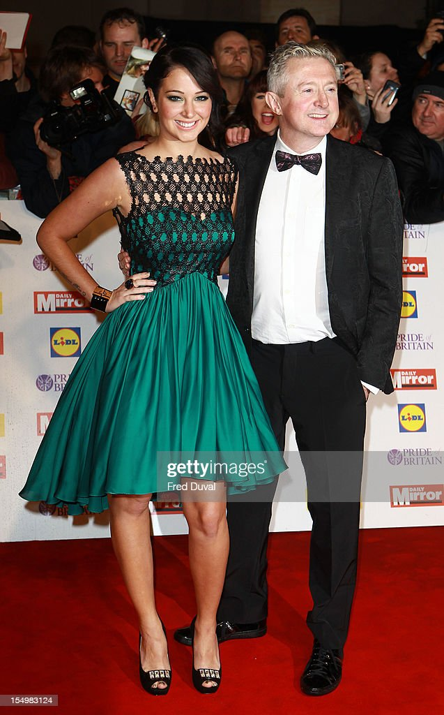 Tulisa Contostavlos and Louis Walsh attend the Pride Of Britain awards at Grosvenor House, on October 29, 2012 in London, England.