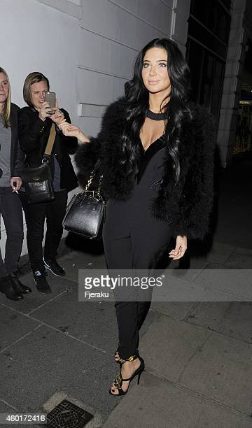 Tulisa Contostavlos attending Metro's Guilty Pleasures Christmas Party as free daily paper's showbiz column marks the festive season and announces...