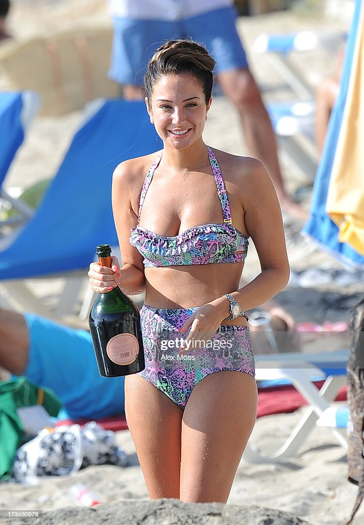 <a gi-track='captionPersonalityLinkClicked' href=/galleries/search?phrase=Tulisa+Contostavlos&family=editorial&specificpeople=6544720 ng-click='$event.stopPropagation()'>Tulisa Contostavlos</a> Celebrates her birthday at Cala D'Hort beach with friends in ibiza on July 13, 2013 in Ibiza, .