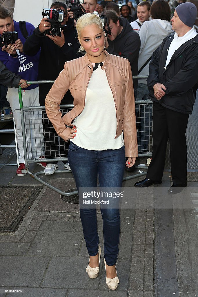 Tulisa Contostavlos seen at BBC Radio One on September 12 2012 in London England