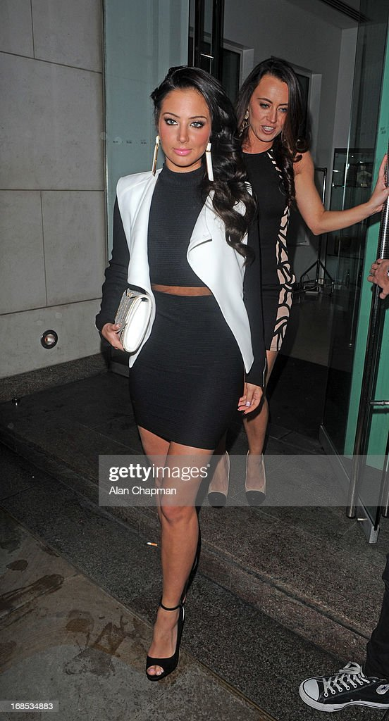 Tulisa sighting leaving Nobu Restaurant Park Lane on May 10, 2013 in London, England.