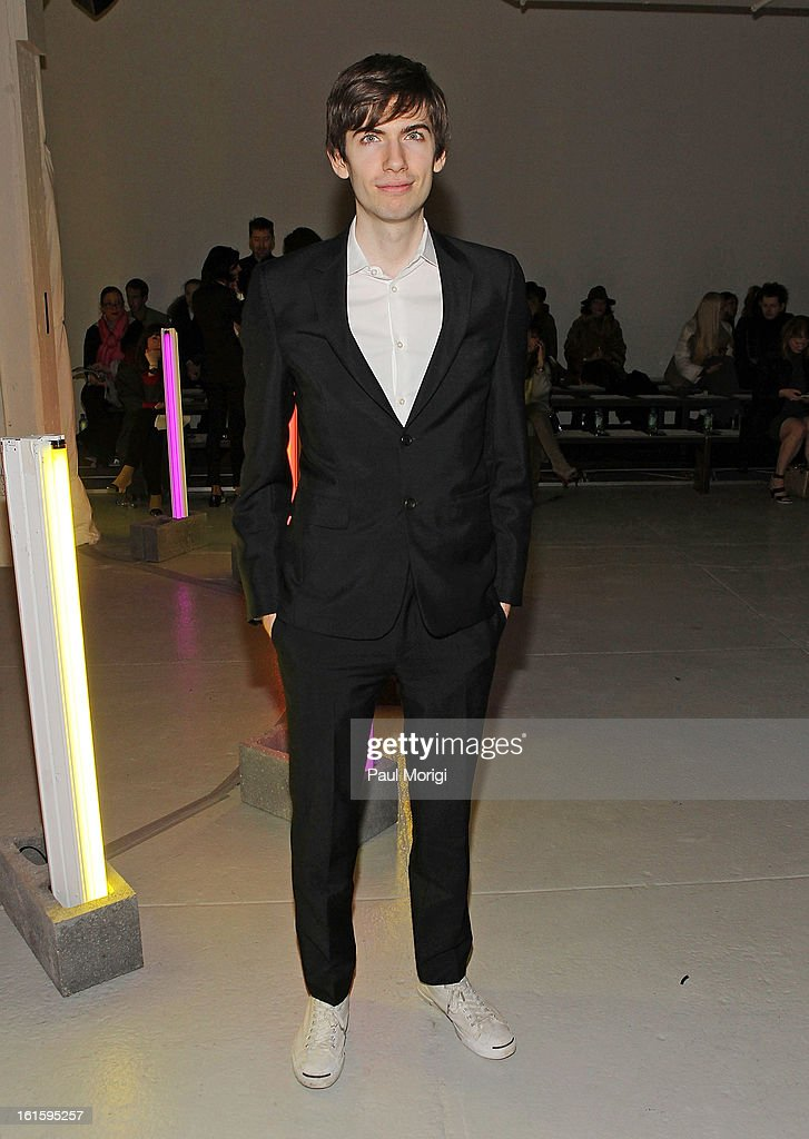 Tumblr CEO, David Karp attends Rodarte during Fall 2013 Mercedes-Benz Fashion Week on February 12, 2013 in New York City.