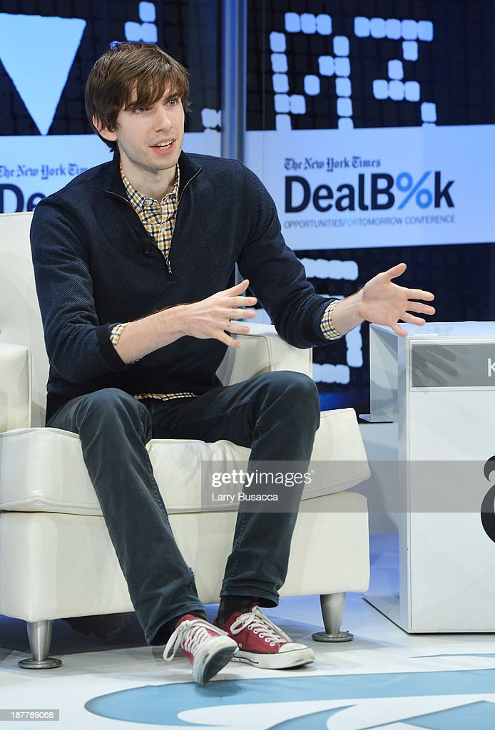 Tumblr founder <a gi-track='captionPersonalityLinkClicked' href=/galleries/search?phrase=David+Karp&family=editorial&specificpeople=6603515 ng-click='$event.stopPropagation()'>David Karp</a> participates in a discussion at the New York Times 2013 DealBook Conference in New York at the New York Times Building on November 12, 2013 in New York City.