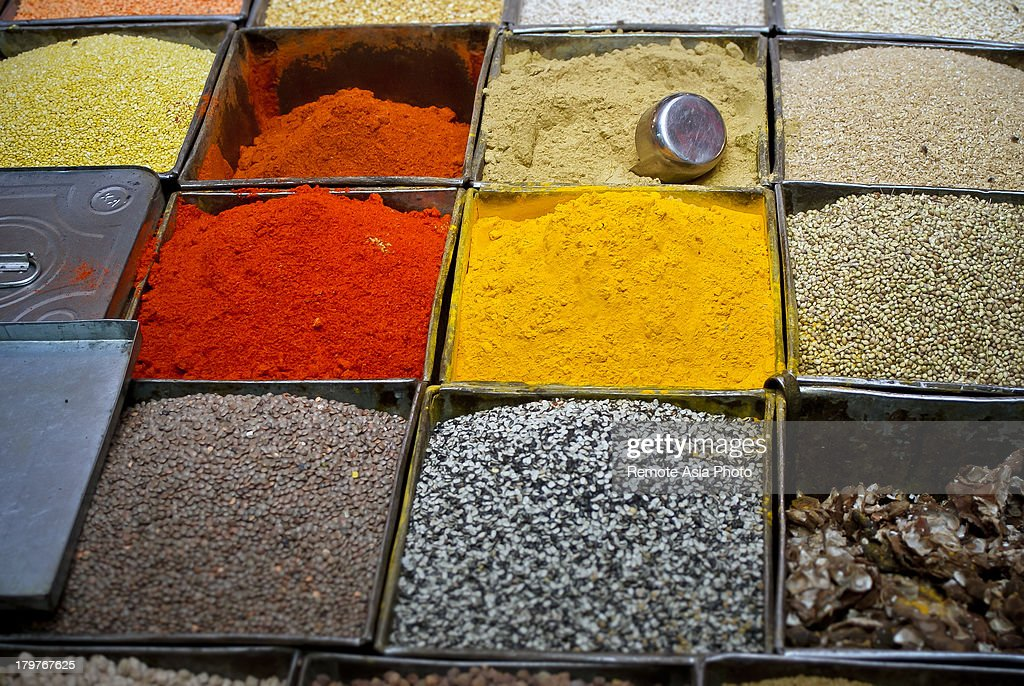 Tumeric and other spices : Stock Photo
