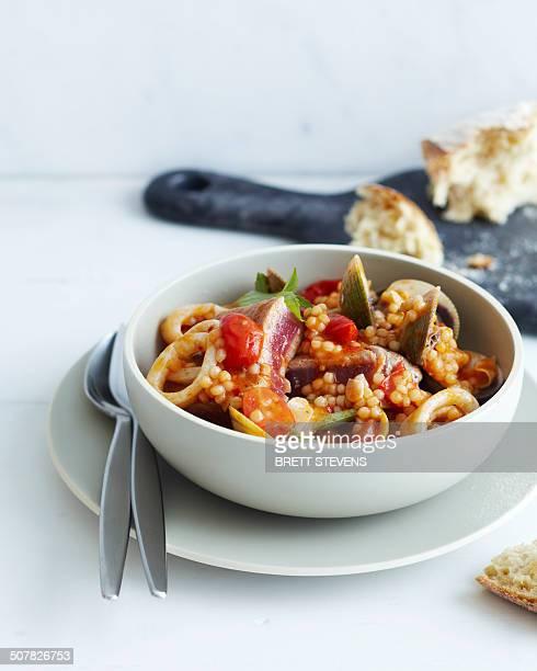 Tuna pearl couscous