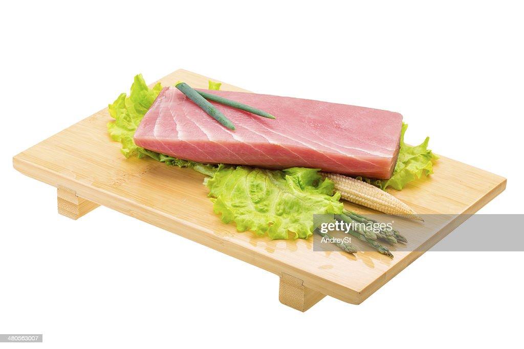 Tuna raw steak : Stock Photo