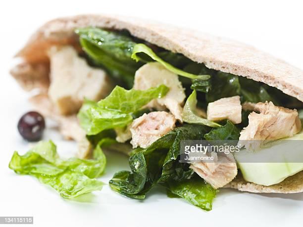 Tuna salad pita bread sandwich