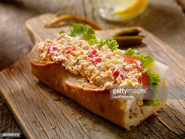 Tuna Salad Sandwich on a baguette