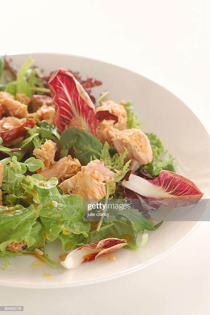 Tuna salad with radicchio