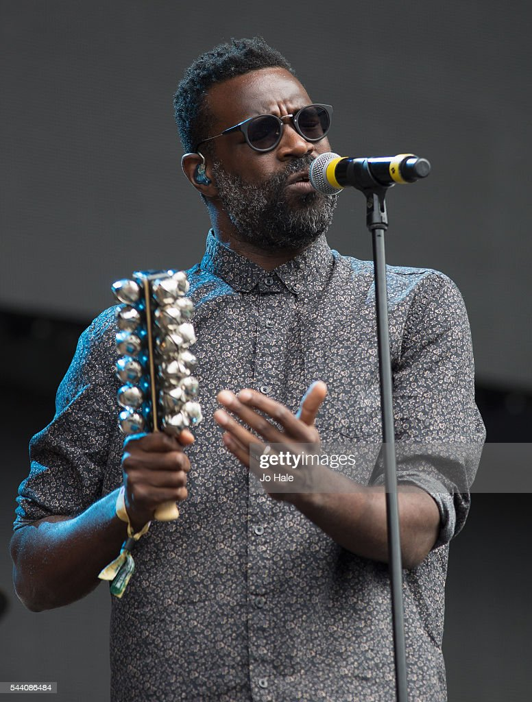 <a gi-track='captionPersonalityLinkClicked' href=/galleries/search?phrase=Tunde+Adebimpe&family=editorial&specificpeople=656333 ng-click='$event.stopPropagation()'>Tunde Adebimpe</a> of TV on the Radio performs as part of Barclay Card Presents British Summer Time Festival: Day 1 at Hyde Park on July 1, 2016 in London, England.